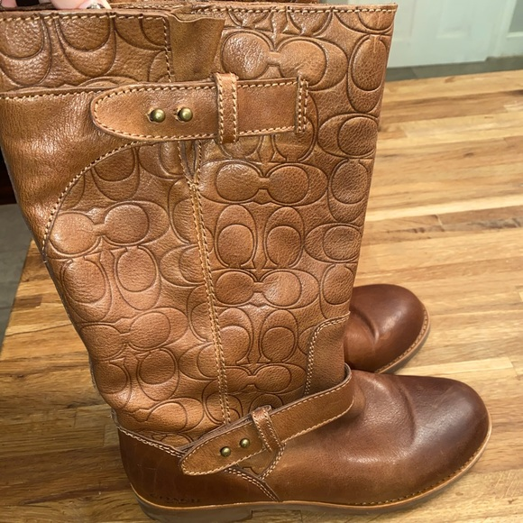 Coach Virginia Leather Boots